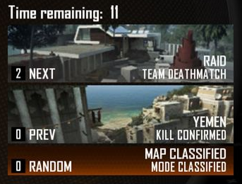 Black Ops 2 map voting